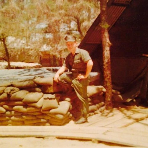Bill Gallagher as a Navy Seabee in Vietnam 1968 to 1969 era