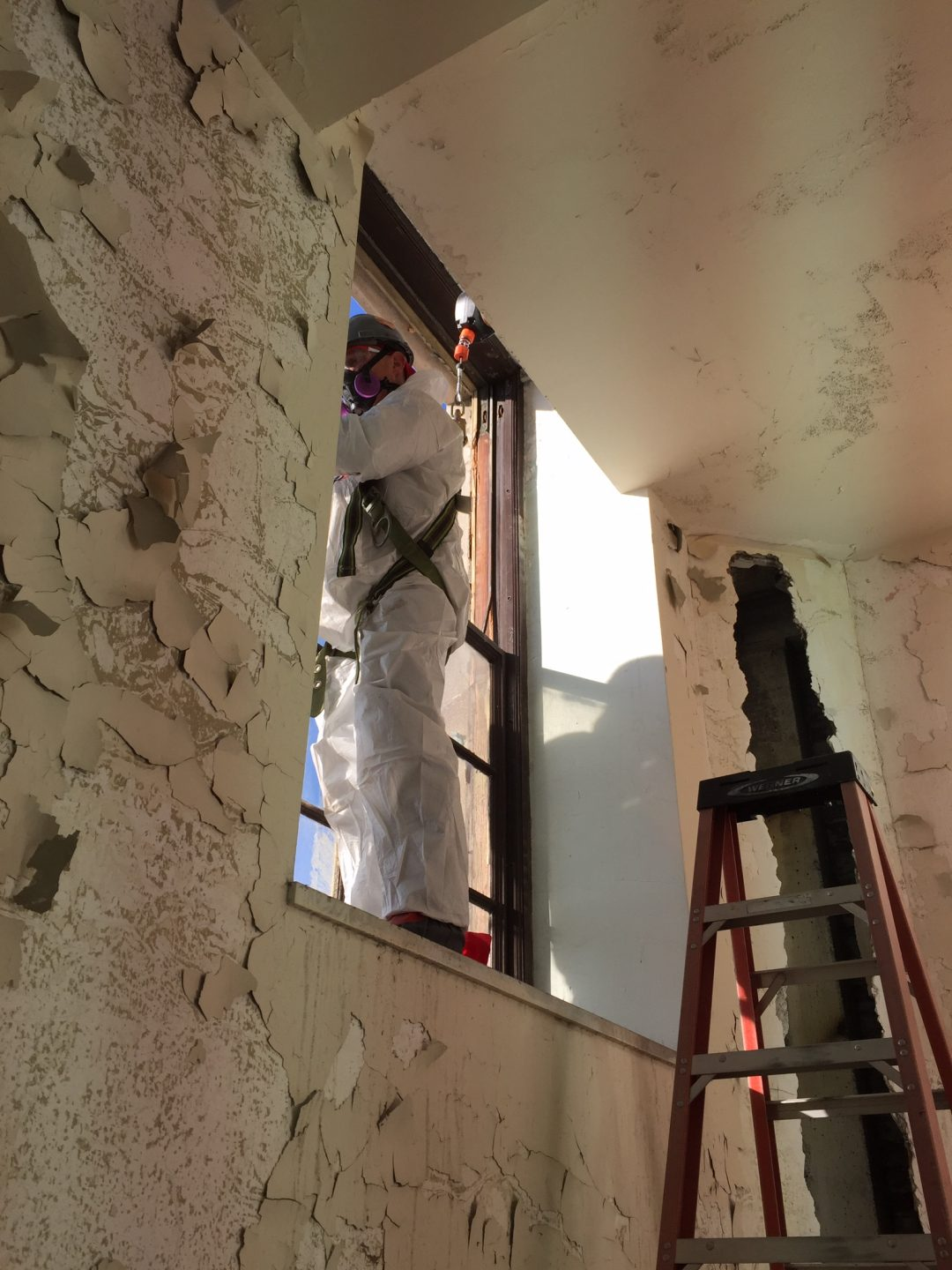 state licensed asbestos inspectors working on home