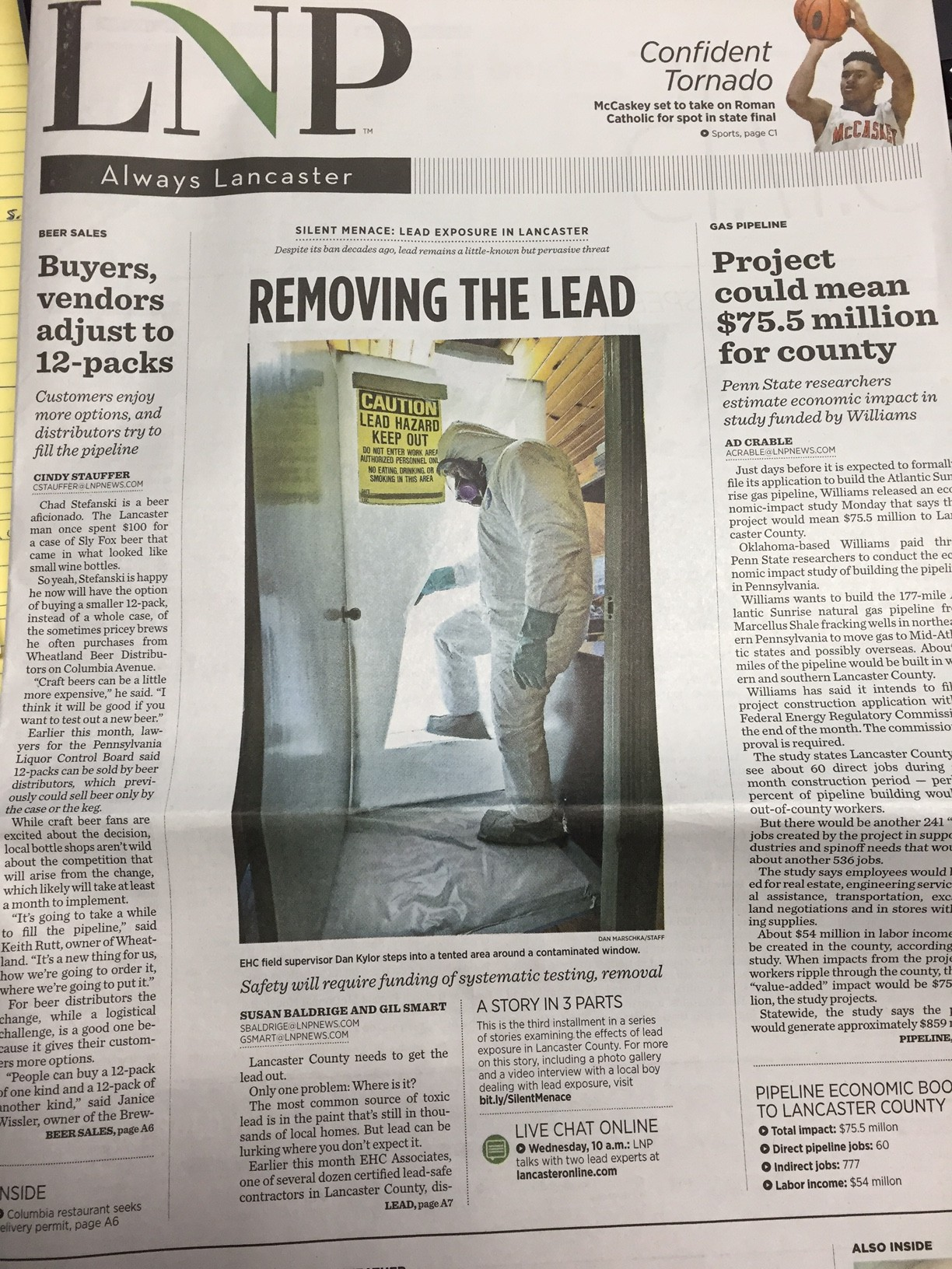 Featured in Lancaster News Papers for Lead Paint Abatement