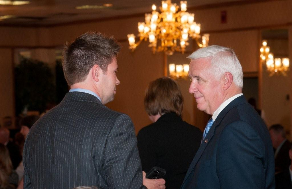 Ted with Gov. Corbett