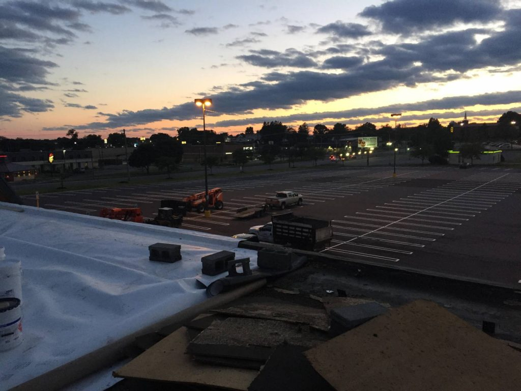 A roof demolition project in Harrisburg pairs well with some beautiful backdrops of the sky.