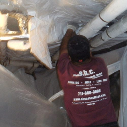 ceiling abatement project