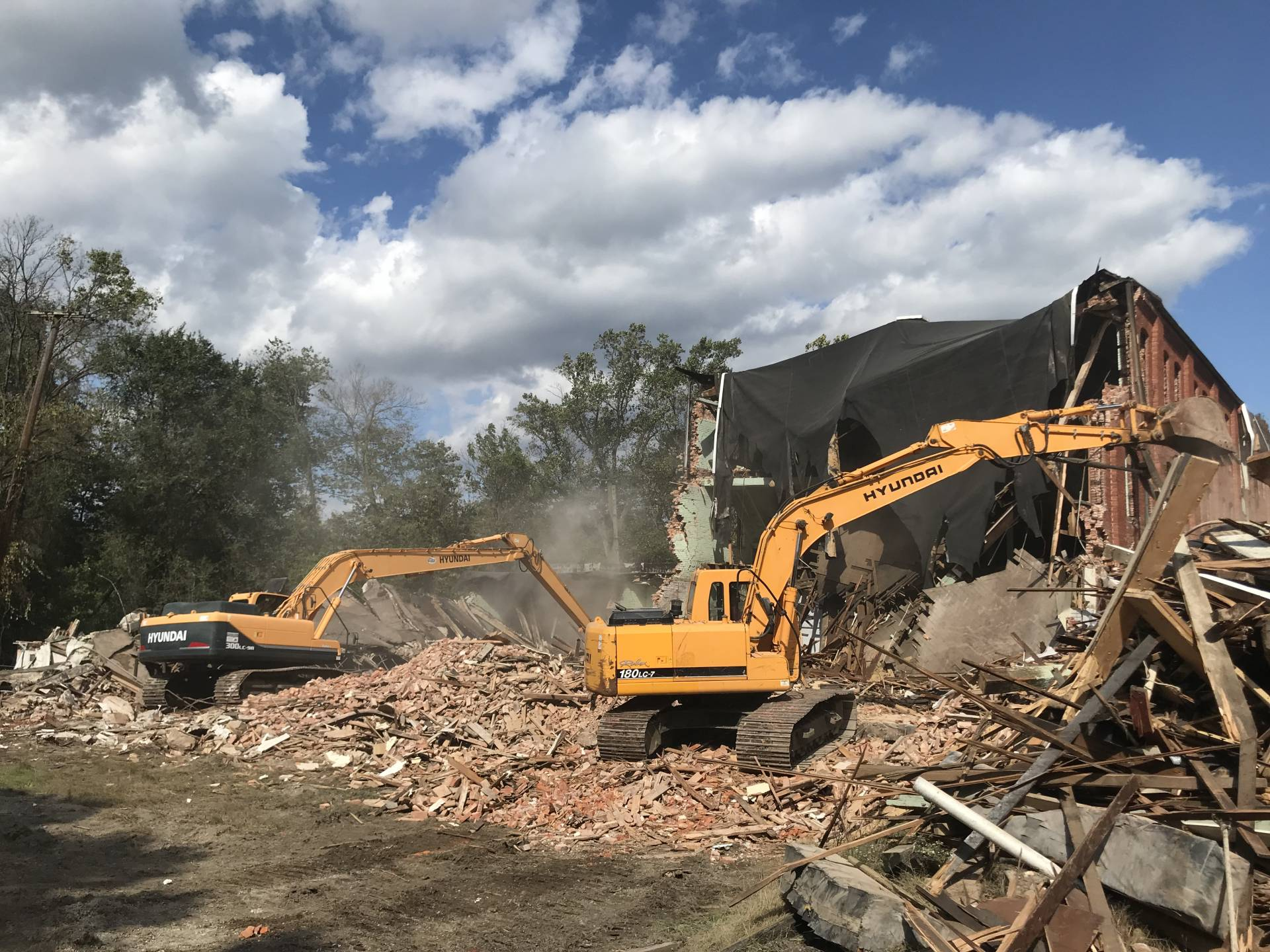 demolition crew at work