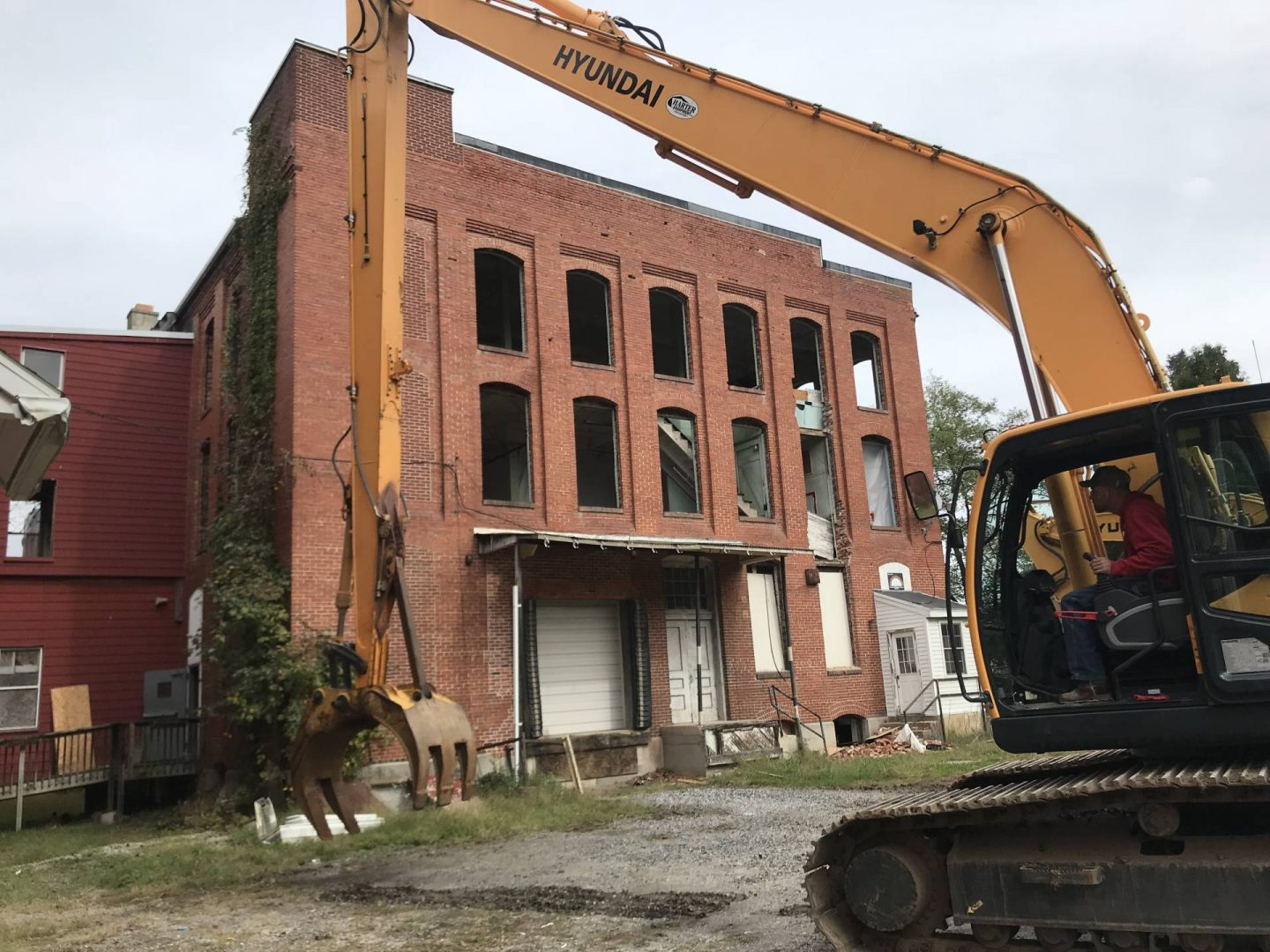 full building demolition project in lancaster pa