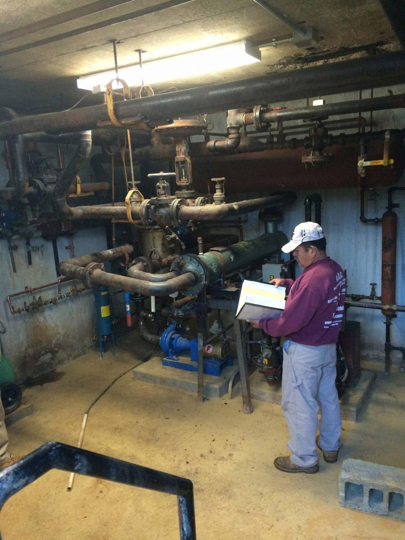 environmental inspection of boiler room